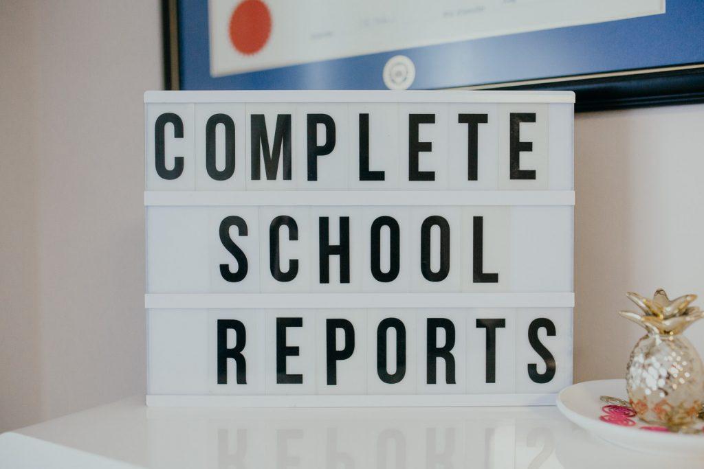 Complete school report features